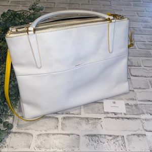 "Coach The ""Borough"" Bag in White and Yellow"